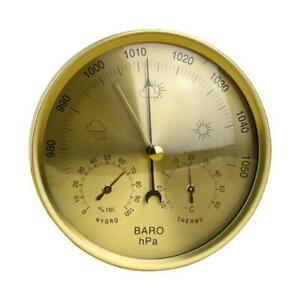 Metal 3 in 1 Barometer Weather Station for Indoor and Outdoor Use Barometer