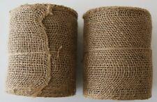 """JUTE BURLAP Mesh Ribbon Roll Natural Tan, PACK OF 2, Unwired 30 ft, 5 1/2"""" Wide"""