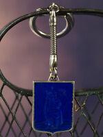 Beau Porte Clé Drago Saint Christophe ST Christopher  Vintage Émaillé Bleu Medal