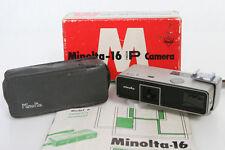 Minolta 16 Model-P Miniature 16mm Camera, Rokkor 25mm f3.5 Lens in box