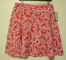 NEW misses size 12 Envision Avenue SKIRT paisley pink