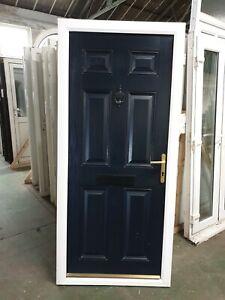 Used Blue Composite Front Door 930 X 2050 (0250b)