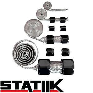 BLACK STAINLESS STEEL ENGINE HOSE DRESS UP KIT FOR RADIATOR/VACUUM/FUEL/OIL S1