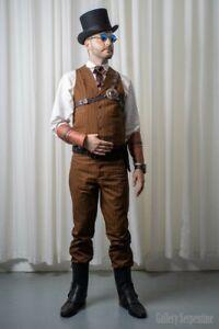 Men's M Vest Tan Original Outlaw Wild West Ranch Cowboy Western Frontier Vest