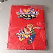 Vintage# Digimon Digital Monster Bandai# Notes With Plastic Red Case#New