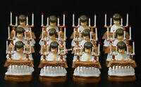 12 FIRST COMMUNION FAVORS GIRL CAKE TOPPER RECUERDOS PRIMERA COMUNION PLASTIC