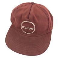 Vintage Volcom surfing Cooter Cheese hat cap burgundy hook loop hbx46