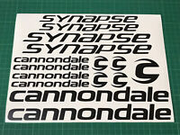 CANNONDALE Synapse Cycling Stickers Decals Custom Colours Bike Frame Fork Road