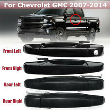 For Chevrolet GMC 2007-2014 Car Outer Outside Exterior Door Handle Gloss Black