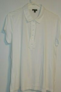 """TALBOTS,  BUTTON-UP, TOP, SHORT SLEEVES, COTTON/MODAL, SIZE XL, BUST 44"""""""