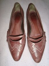 BALLY  UK 5  EU 38 US 7.5  BROWN Leather VINTAGE shoes