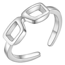 925 STERLING SILVER PLATED SUN GLASS RING THUMB FINGER RING