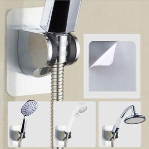 SOOTOP Shower Head Handheld Handset Holder Chrome Bathroom Wall Mount Adjustable Suction Bracket Suction Grips Silver