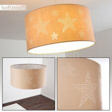 Lampe à suspension Plafonnier Design Lustre Lampe pendante Tissu marron 173894