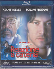 Blu-ray **REAZIONE A CATENA** con Keanu Reeves Morgan Freeman nuovo 1996
