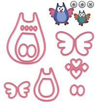 Marianne Design Cutting Die Set ~ FAMILY OWLS Birds, Animals,  Baby~ COL1357