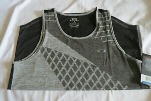 Men's OAKLEY XL Next GFX Heather GRAY 24U Sleeveless Tank Top Shirt 43547