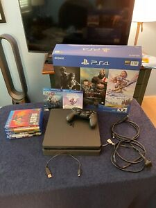 Sony PlayStation 4 Slim 1TB Console - W/ 6 Games - EXCELLENT CONDITION