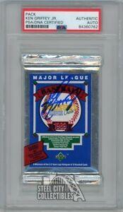 Ken Griffey Jr Autographed 1989 Upper Deck Baseball Pack PSA/DNA