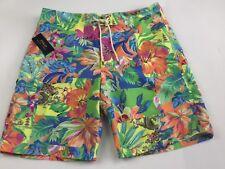 Ralph Lauren Men's Swimwear Shorts Multi Colour With Dragons Size 34