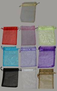 Drawstring Mesh Organza Fabric Bag Pouch - free shipping