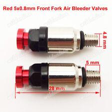 Fork Air Bleeder Valves For CRF 450 450R 450X 250 250X 250R Dirt Bike Motocross