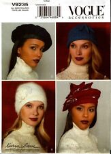 Vogue Sewing Pattern V9235 9235 Ladies Misses Hats NEW