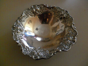 ANTIQUE GREEK SILVER 800 HANDMADE FOOTED CANDY DISH BONBON BOWL 92.8 g EXCELLENT