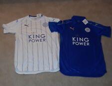 2016/17 Puma Leicester City Soccer Jerseys Blue & White Size L Set of 2