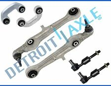 New 6pc Front Lower Forward Control Arms + Sway Bars Outer Tie Rods Audi A4 S4