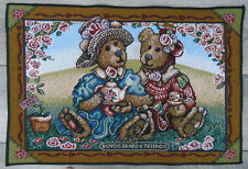 Boyds Bears Friends Afternoon Tea 12x18 Tapestry PLACEMAT Picnic Roses Sweet Pea