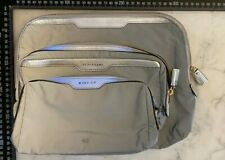 Anya Hindmarch SILVER REFLECTIVE travel bag set X 3