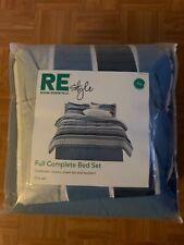 Room Essentials Full Complete Bed Set: Comforter, Shams, Flat Sheet, etc.
