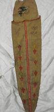 Vintage Embroidered Umbrella bag Holder Linen 2 pocket Antique BIRD APPLIQUES