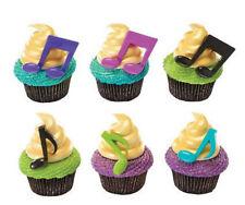 Musical Notes Music Bright Colors cupcake picks (24) favor cake topper 2 doz