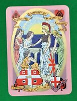 Playing Cards 1 Swap Card Old Antique Wide 1903 WORSHIPFUL IMPERIAL FEDERATION 1