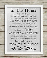 We Do Disney Print a4 Home House Rules Quotes Wall Art