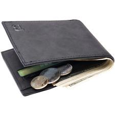 2019 Fashion Men Wallets Casual Small Wallet Money Purse Coin Bag Zipper BLACK