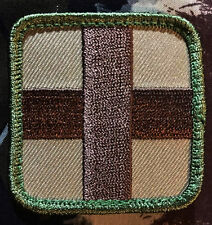 MEDIC SQUARE EMT EMS CROSS ARMY MULTICAM VELCRO® BRAND FASTENER PATCH
