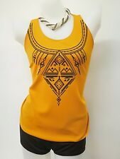 Sleeveless Boho Top - Mustard Yellow