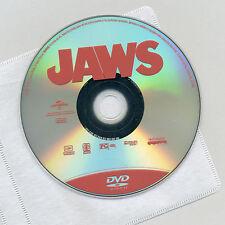 JAWS 1975 PG thriller shark movie DVD disc& sleeve, Roy Scheider, Shaw, Dreyfus
