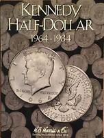 1964-20??  KENNEDY HALF DOLLAR (3-COIN FOLDER SET) H. E. HARRIS / WHITMAN - NEW