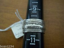 Band Ring Unisex Sz 10.5 Wedding Bn Old Afghanistan Embossed W Raised Silver