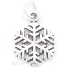 SNOWFLAKE Solid 925 Sterling Silver CHRISTMAS SNOW FLAKE Pendant Bracelet Charm