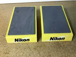 Set of 2 Nikon Binoculars Store Display Stand Yellow Powder coated metal padded
