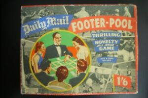 CHAD VALLEY VINTAGE 1950's DAILY MAIL FOOTER-POOL GAME