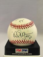 RARE 1997 Mark Mcgwire Signed Autographed AL Baseball Inscribed #25 A's PSA DNA