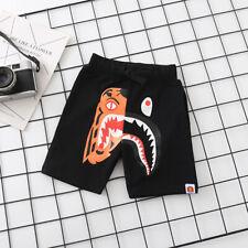 New Cool Camo Tiger Gray & Black Shark Kids Boy Girl Summer Short Pants