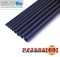 1 x OD 22mm x ID 20mm x 1000mm (1 m) 3k Carbon Fiber Tube (Roll Wrapped) Fibre