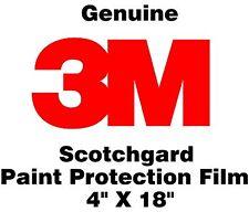 "Genuine 3M Scotchgard Paint Protection Film Clear Bra Bulk Roll Film 4'' x 18"""